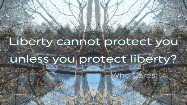 Liberty cannot protect you unless you protect liberty? Who Cares